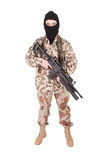 Mercenary with m4 carbine Royalty Free Stock Photography