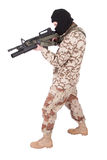 Mercenary with m4 carbine Stock Photography