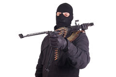 Mercenary with M60 machine gun Royalty Free Stock Images