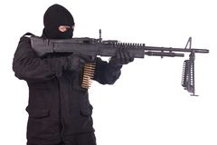 Mercenary with M60 machine gun Stock Photography