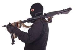 Mercenary with M60 machine gun Royalty Free Stock Image