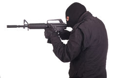 Mercenary with m16 rifle Royalty Free Stock Photo