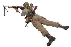 Mercenary with machine gun Stock Photos