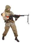 Mercenary with machine gun Royalty Free Stock Photos