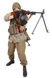 Mercenary with machine gun Stock Image