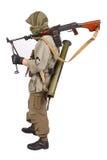 Mercenary with machine gun Stock Images