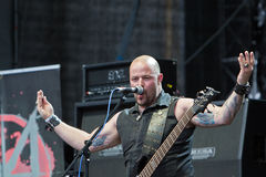 Mercenary on Metalfest 2013. Show of Mercenary  metal band on Metalfest 2013 Royalty Free Stock Photos