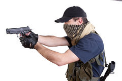 Mercenary - private security contractor. Isolated Royalty Free Stock Photos