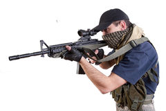 Mercenary - private security contractor Stock Image
