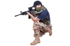 Mercenary - private security contractor Stock Images