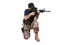 Mercenary - private security contractor Stock Photos