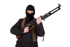Mercenary with rpd-44 machine gun Stock Image