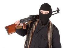 Mercenary with rpd-44 machine gun Stock Images