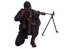 Mercenary with RPD 44 machine gun Stock Photo