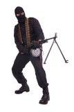 Mercenary with RPD 44 machine gun Royalty Free Stock Images