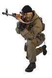 Mercenary sniper with SVD sniper rifle Royalty Free Stock Image