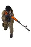 Mercenary sniper with SVD sniper rifle Royalty Free Stock Photo