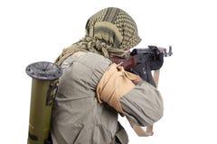 Free Mercenary With AK 47 Gun Stock Photo - 41877980