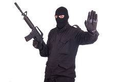 Free Mercenary With CAR15 Rifle Royalty Free Stock Photos - 41878038