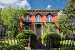 The Mercer House in Savannah, GA. Stock Photos