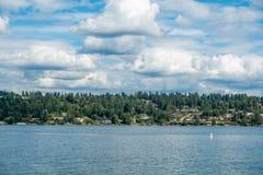 Mercer Island With Clouds 2 Fotografia Stock Libera da Diritti