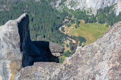 Mercer River from the high. Four mile trail offers some of the best views of the Yosemite Valley royalty free stock image