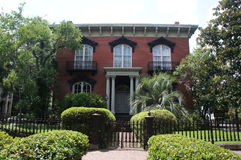 Mercer Williams House Museum i Savannah, Georgia royaltyfri bild