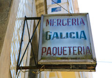 Merceria Galicia Royalty Free Stock Photography