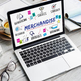 Merchandise Biznesowego celu Inwestorskiego planu pojęcie Zdjęcie Stock