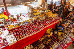 Merchandise in a flea market. In the city of Yerevan Stock Photo