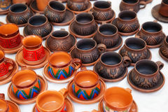 Merchandise in a flea market. In the city of Yerevan Royalty Free Stock Photography