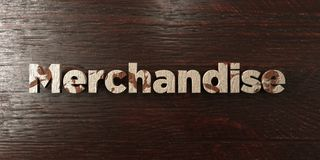 Merchandise - grungy wooden headline on Maple  - 3D rendered royalty free stock image. This image can be used for an online website banner ad or a print Royalty Free Stock Images