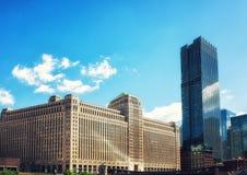 Merchandise hala targowa Buduje Chicago obraz stock