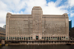 Merchandise Mart. The Merchandise Mart on a clear winter's morning in Chicago, USA Royalty Free Stock Photography