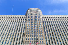 Merchandise Mart Chicago. Chicago, USA - May 24, 2014: The Merchandise Mart in Downtown seen from Chicago river Stock Image