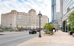 Merchandise Mart, is a commercial building located in the downtown of Chicago royalty free stock image