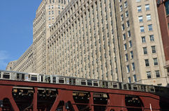 Merchandise Mart Train Royalty Free Stock Image