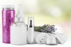 Merchandise. Perfume cosmetics beauty spa treatment health spa toiletries Royalty Free Stock Photography