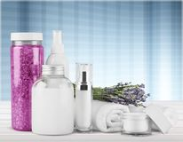 Merchandise. Perfume cosmetics beauty spa treatment health spa toiletries Stock Images