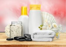 Merchandise. Spa Treatment Health Spa Cosmetics Beauty Wellbeing Bath Salt Royalty Free Stock Images
