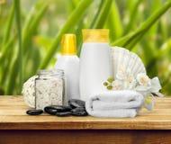 Merchandise. Spa Treatment Health Spa Cosmetics Beauty Wellbeing Bath Salt Stock Image
