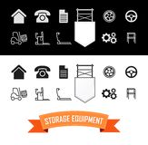 Merchandise Vector Icons Set Royalty Free Stock Photos