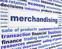 Merchandising business message royalty free stock photo