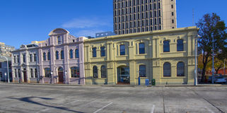 Merchant buildings at hobart dockside Royalty Free Stock Image