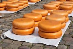 Merchant cheese market Royalty Free Stock Photo