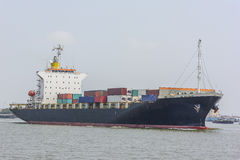 Merchant container ship Stock Images
