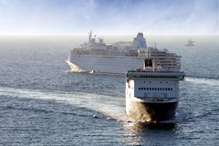 Merchant and cruise Royalty Free Stock Images