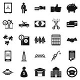 Merchant icons set, simple style Royalty Free Stock Photo