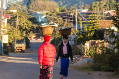 Merchant ,   kalaw in Myanmar (Burmar) Stock Photography