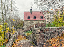 The Merchant`s house in the Old Town in Vyborg. Stock Photo